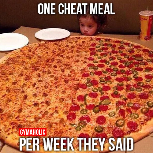 Not exactly what we meant by cheat meal...