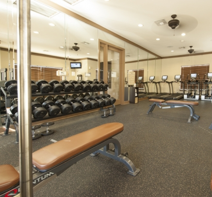 Fitness Center at Camden Downs at Cinco Ranch Apartments in Katy, Texas