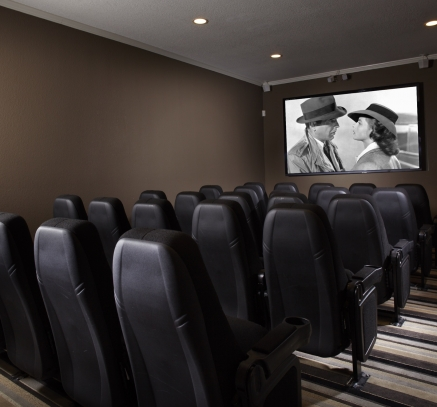 Theater Room at Camden Fair Lakes Apartments in Fairfax, Virginia