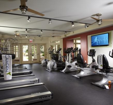 Fitness Center  at Camden Fairfax Corner Apartments in Fairfax Virginia