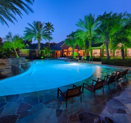 Main pool at Camden Holly Springs Apartments in Houston, Texas
