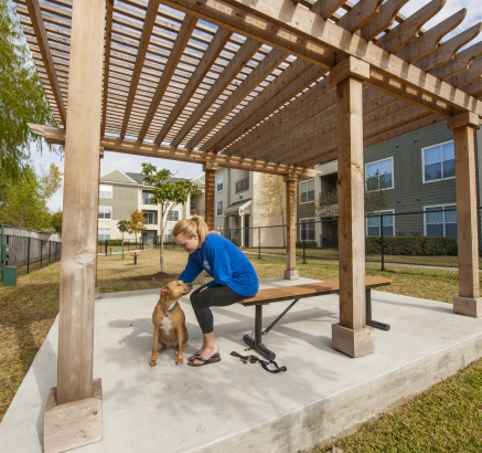 Pet Park at Camden Spring Creek Apartments in Spring, Texas